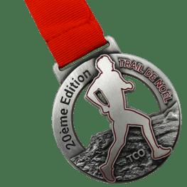 Trail de Noël médaille