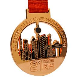 Médaille brillante couleur bronze
