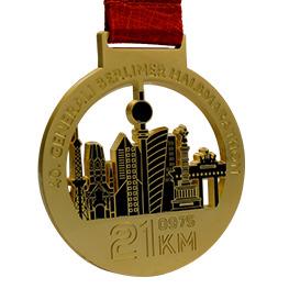 Médaille matt couleur or